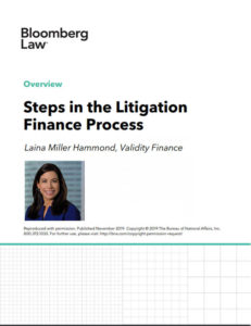 Bloomberg Law Litigation Finance Steps Article Cover
